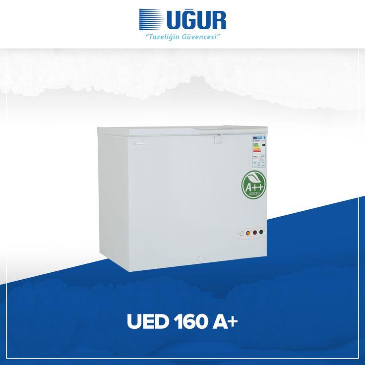 UED 160 A+ birçok özelliğe sahip. Bunlar; sağlam gövde yapısı, düşük enerji tüketimi, 120 litre geniş iç hacim, tek düğme ile hızlı şoklama. #uğur #uğursoğutma