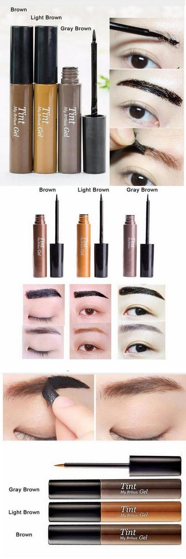 [Visit to Buy] Latest  Gray Brow Color Peel Off Eyebrow Enhancers Makeup EyeBrow Gel Waterproof Eyebrow Tint My Brow Gel Beauty #Advertisement