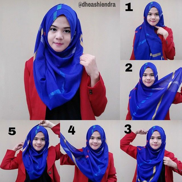Simple Chest Coverage Hijab Tutorial