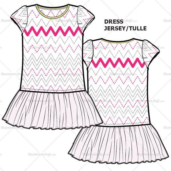 Fashion Illustration Dresses for Teens Templates