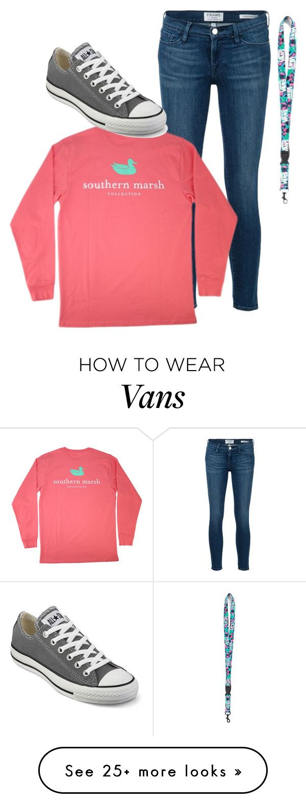 """"""""""" by lindseydykes18 on Polyvore featuring Frame Denim, Vans and Converse"""