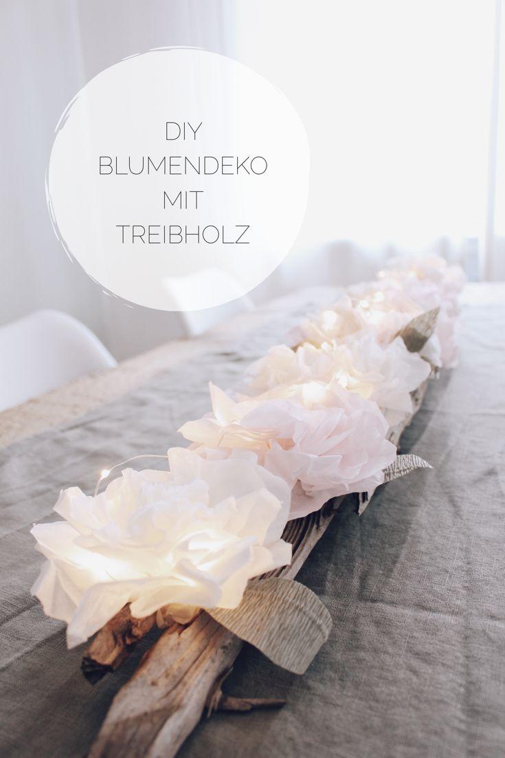 DIY Blumendeko mit Treibholz