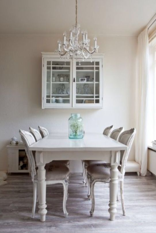 """This soft-toned dinner area is from our feature """"Period Peace"""""""