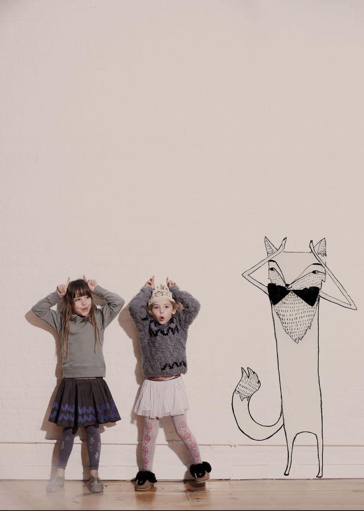 cute! Love grey for girls.