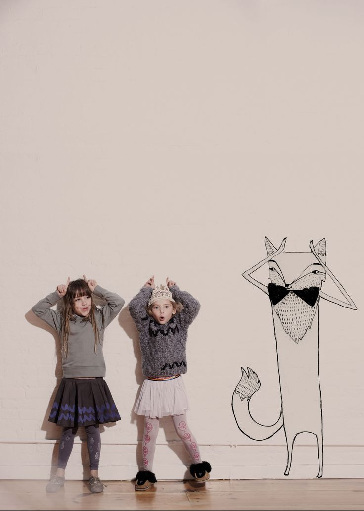 cute! Love grey for girls.