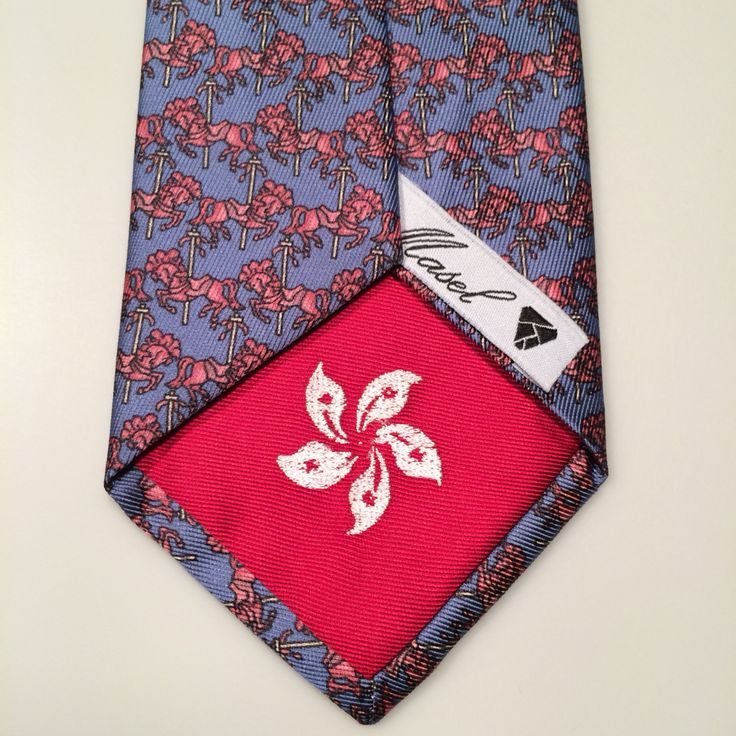 Hong Kong flag dedication Available @ www.masel.me ~ type *Hong Kong* in the inscription field of your Masel Bespoke tie order form!