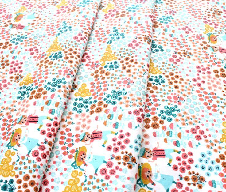 Birch Fabrics The Hidden Garden Meadow Frolic Cream