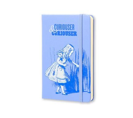 Limited Edition Notebook Alice Plain Pocket Hard Cover Blue