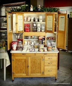 A Coppes Hoosier Loaded With Goodies At Nappanee Bakery And Treat Shoppe,  In The Factory Where This Cabinet Was Made!