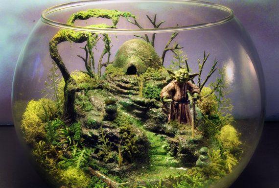 Yoda Dagobah Zen Garden Large Deluxe Terrarium By