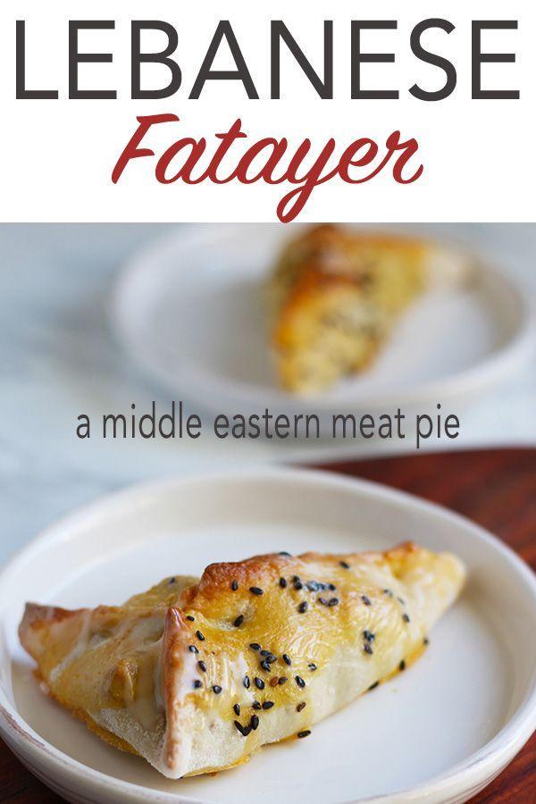 Lebanese Beef Fatayer A Middle Eastern Meat Pie Recipe