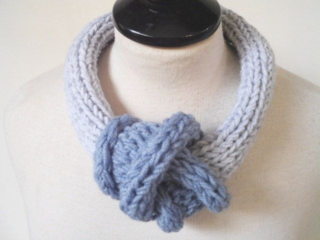 Boho necklace Minimalist necklace Knit jewelry Oversize necklace Unique necklace Artistic necklace Yarn jewelry Knot necklace Party necklace by prettyobject on Etsy