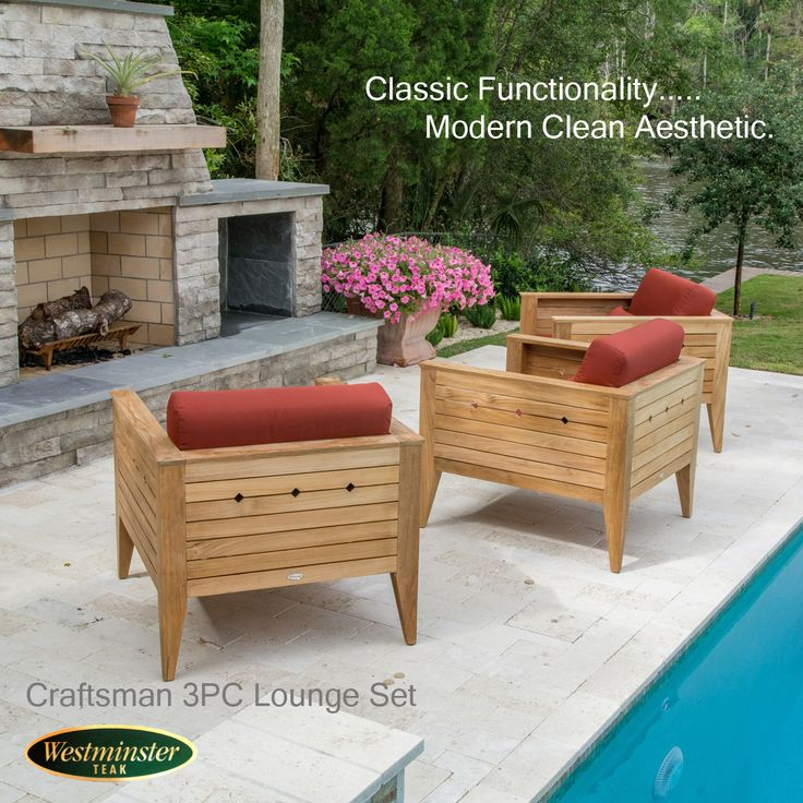 The Craftsman Teak Lounge Set for 3 makes a bold yet simple statement in any environment, from the loggia to the living room. The transitional design of the Craftsman Collection mixes a solid classic functionality with a modern clean aesthetic. Generously proportioned, this set ensures hours of comfort, whether indoors or out.