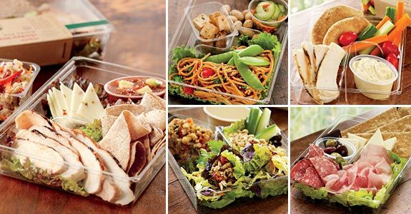 Healthy lunches.  Bistro boxes from Starbucks.  I'm going to make my own.
