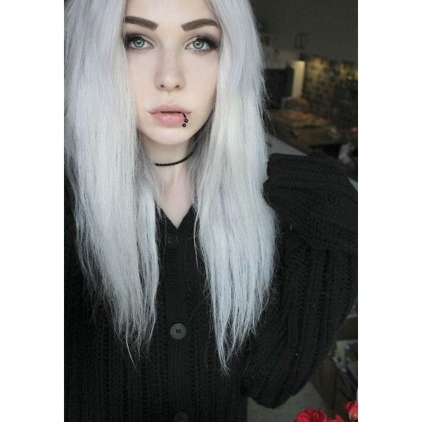 Farbené vlasy ❤ liked on Polyvore featuring white hair