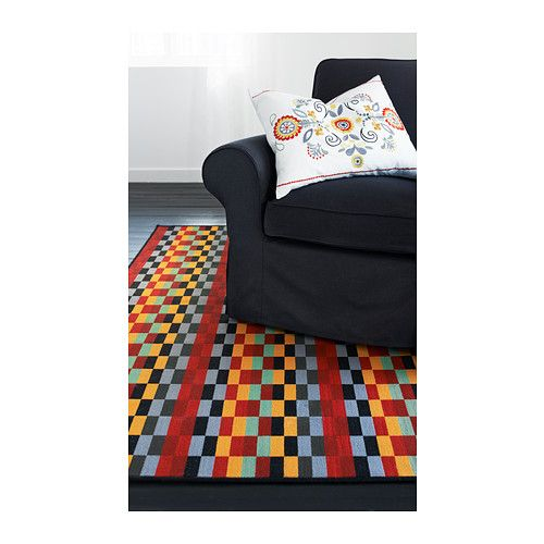 bring in fall colors to your living or dining room with the helsinge low pile multicolor rug helsinge tapis poils ras ikea - Tapis Color Ikea