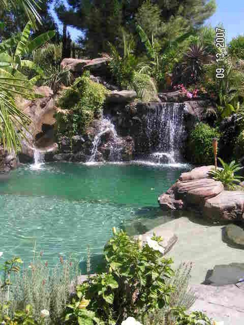 back to nature with natural swimming pools natural swimming pool design picture laurieflower 023 - Natural Swimming Pool Designs