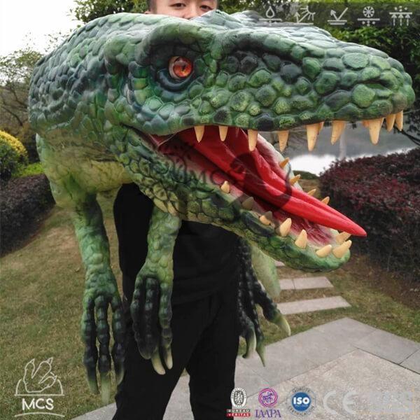 BB023-Dinosaur Hand Puppet For Sale Wear Deinonychus -Mcsdino-Egg and Puppet