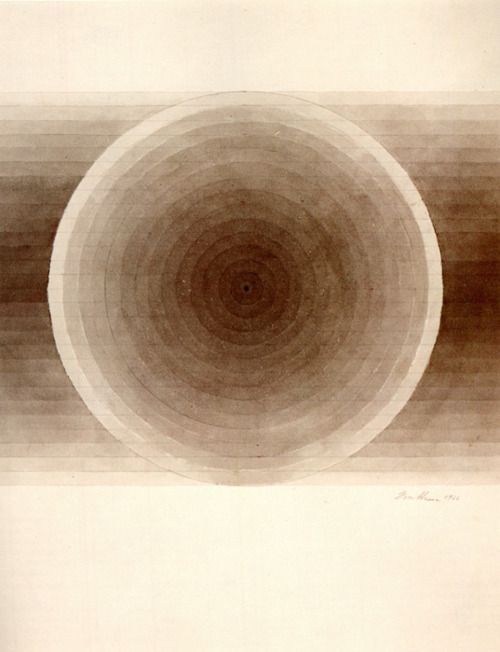 Eva Hesse, Untitled. 1966. Brown ink with wash.