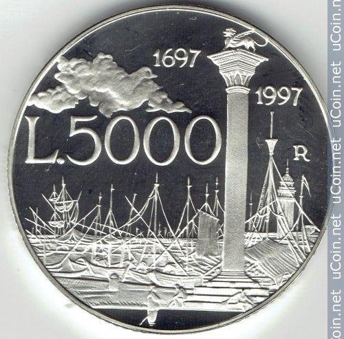 5000 Lire 1997 Canaletto Italia Monete Numismatica E Banconota