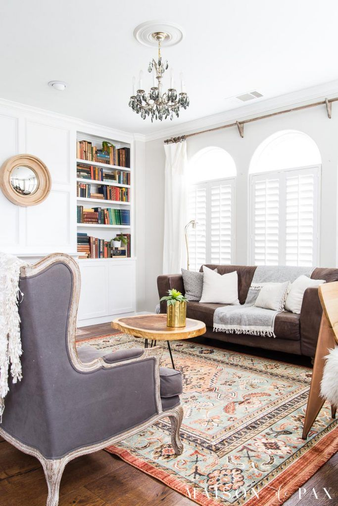 90s Home Update Before And After Maison De Pax Fresh Living Room Rugs In Living Room Eclectic Living Room #neutral #transitional #living #room