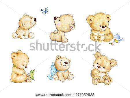 Set of cute Teddy bears