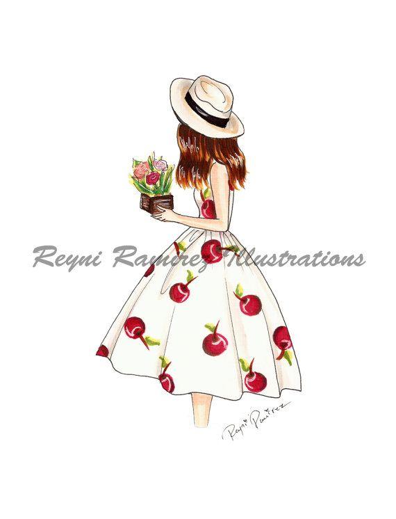 He encontrado este interesante anuncio de Etsy en https://www.etsy.com/es/listing/281726524/fashion-illustration-cherry-dress