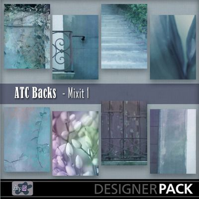 For ATC lovers. 8 Backgrounds ready sized for you. [2.5 x 3.5 inches] NB These are NOT fullsized scrapbook papers. This set are based on my ...