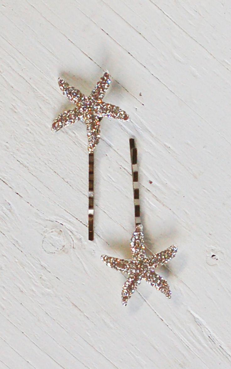 Ha hair accessories for sale - Rhinestone Star Hair Accessories Bobby Pin Set Beach Wedding Sea Star Starfish