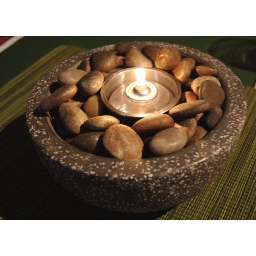 Rock Stone Fire Pot - Fire Pots - I can make this myself! :)