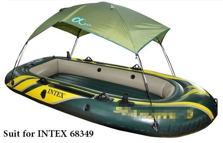 High Quality INTEX Seahawk inflatable boat Tent sun shelter inflatable rowing boat PVC Rubber Fishing Boat Tent Canopy