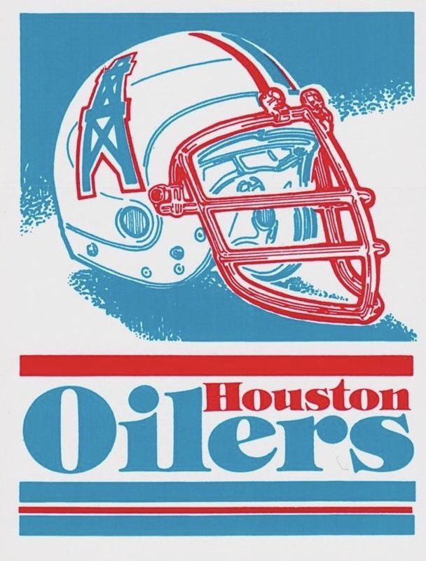 Vintage Nfl Houston Oilers Poster Houston Oilers Nfl History Oilers