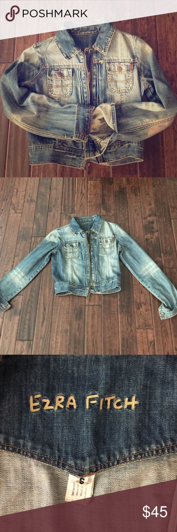 Cropped Abercrombie Jean jacket size Small Size small Cropped Abercrombie Jean jacket great condition worn a few times. When zipped stops above the belly button Abercrombie & Fitch Jackets & Coats Jean Jackets