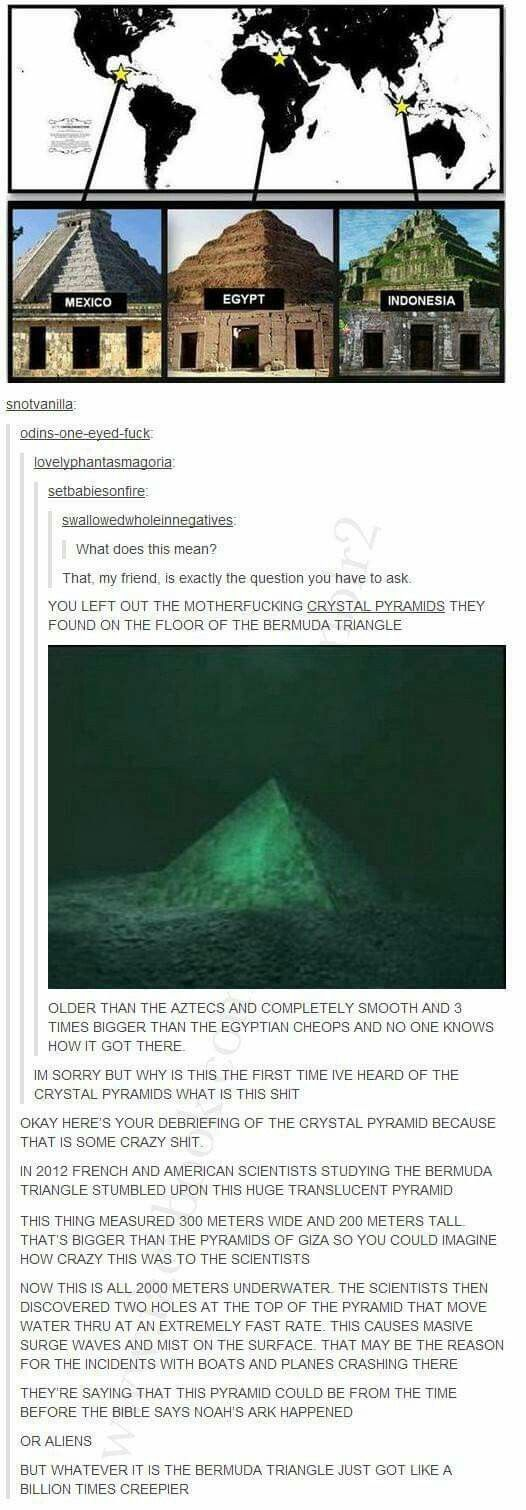 Bermuda Triangle just got a whole lot more creepy! Know your pyramids Egypt Mexico Indonesia the sea