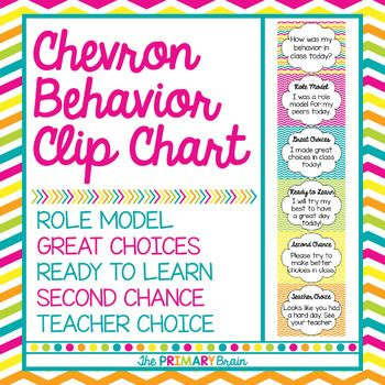 My chevron behavior clip chart is an awesome tool to manage behavior in your classroom. My favorite part about the clip chart is the positive behavior reinforcement. My students LOVE to make it all the way up to ROLE MODEL behavior. They always feel so proud!