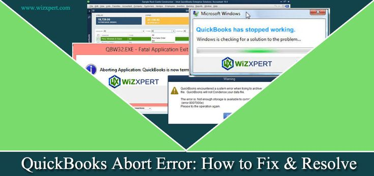 QuickBooks abort error is a problem faced by some of our users while they are using QB. Suddenly its stop working and an abort message comes on the screen.