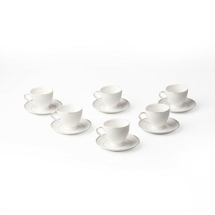 Karaca Porselen Türk Kahve Fincan Takımı Silver Ccs