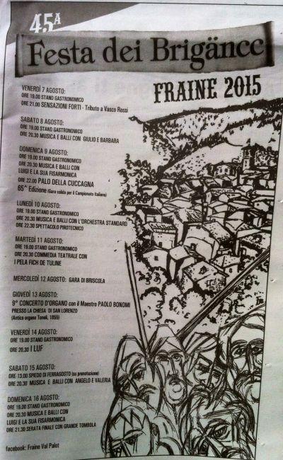 45 Festa dei Brigance in Val Palot http://www.panesalamina.com/2015/39428-45-festa-dei-brigance-a-fraine-val-palot.html