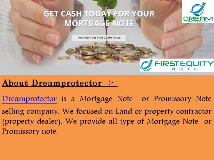 You are likely here perusing our website because you hold a Deed - promissory notes