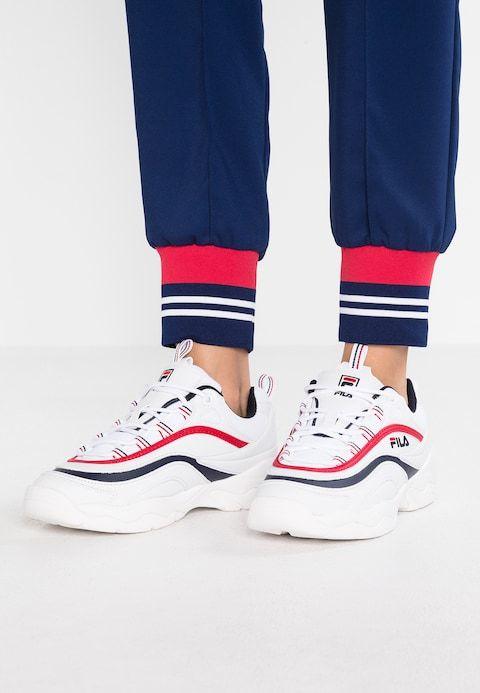 013ae4ebb00 RAY - Trainers - white/navy/red @ Zalando.co.uk 🛒 in 2019 | FILA ...