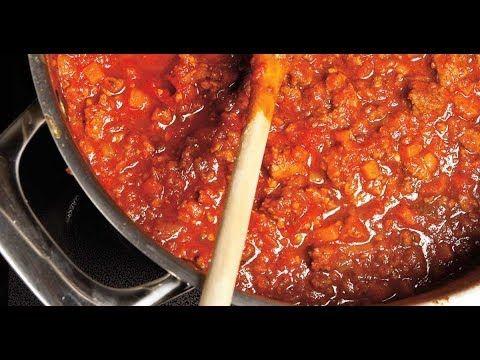 Recette Sauce à Spaghetti à l'Orignal ou Chevreuil