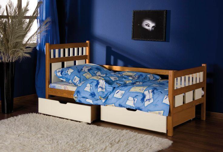 Pat din lemn masiv pentru copilas + 3 ani http://www.ramedepat.ro/paturi/paturi-de-copii/pat-din-lemn-masiv-leo.html