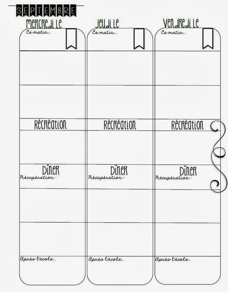 Journal de planification