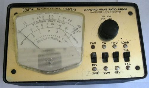Vintage General Radiotelephone Company Co Standing Wave Ratio Bridge Model 615 B | eBay