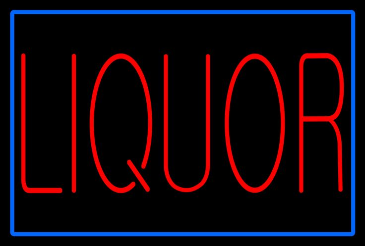 Large Red Liquor Blue Border Animated Neon Sign 25 Tall x 37 Wide x 3 Deep, is 100% Handcrafted with Real Glass Tube Neon Sign. !!! Made in USA !!!  Colors on the sign are Blue and Red. Large Red Liquor Blue Border Animated Neon Sign is high impact, eye catching, real glass tube neon sign. This characteristic glow can attract customers like nothing else, virtually burning your identity into the minds of potential and future customers.
