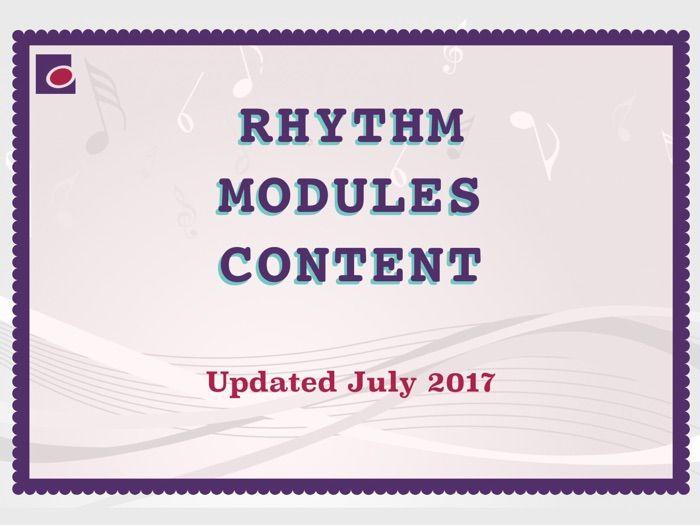 Rhythm module contents