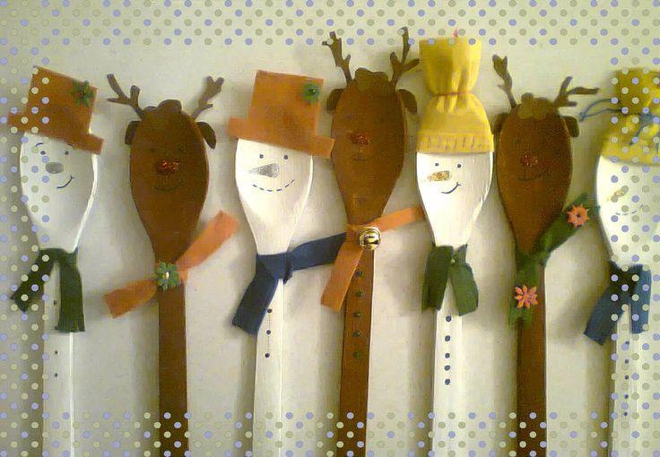 κουτάλες χιονανθρωπάκια