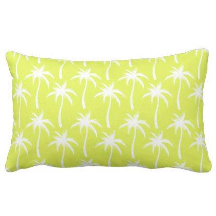 White Palm Trees - Tropical Pillow - home gifts ideas decor special unique custom individual customized individualized