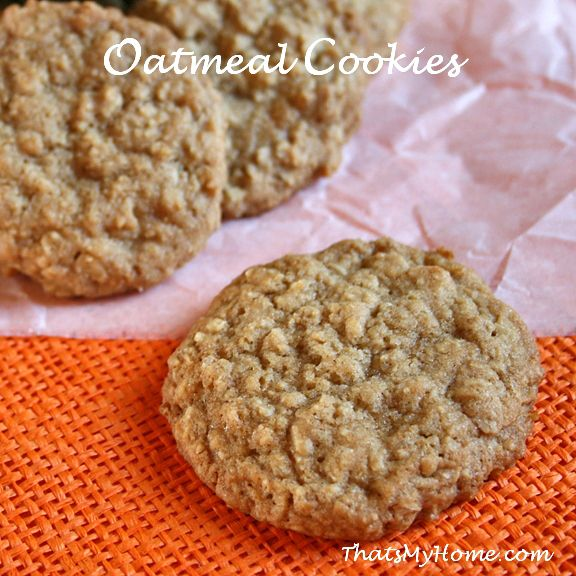 Old fashioned Brown Sugar Oatmeal Cookies, perfect for school lunches.