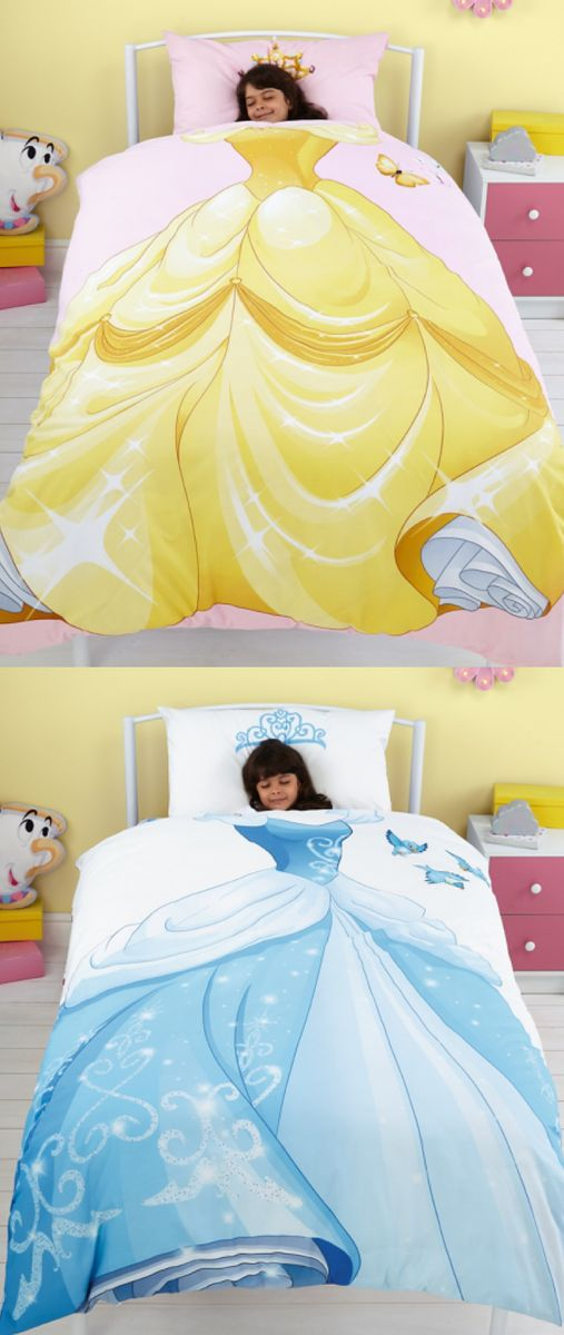 I love this Disney Princess Reversible Duvet Set. One side has Belle and the other has Cinderella!